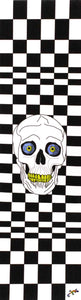"Black and white checked pattern and skull - Grip Tape 9""x33""-grip tape 9x33-Grip Tape and Co-[skateboard]-[longboard]-[scooter]-Electric Scooters Pacific"