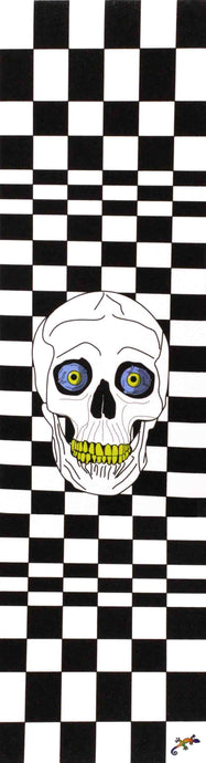 Black and white checked pattern and skull - Grip Tape 9