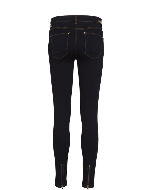 Victoria 7/8 Silk Touch Jeans Dark Blue Denim
