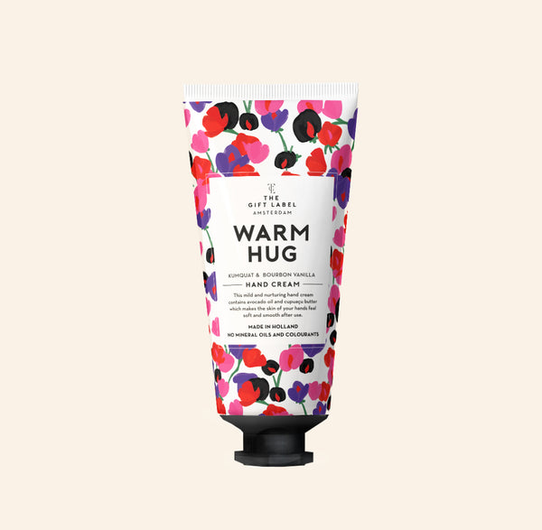 The Gift Label Warm Hug Hand Lotion Tube Kumquat And Bourbon Vanilla