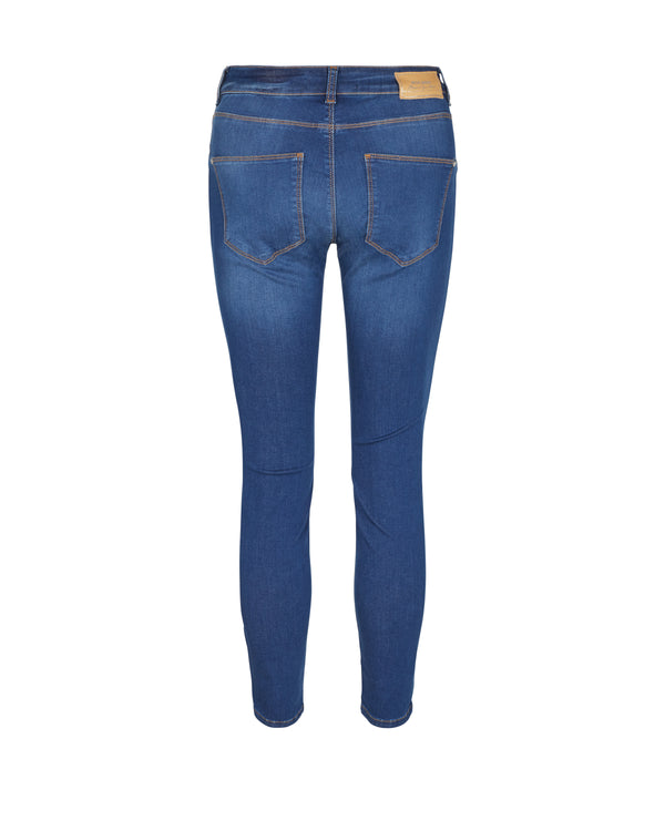 Victoria Sateen Jeans Blue Denim
