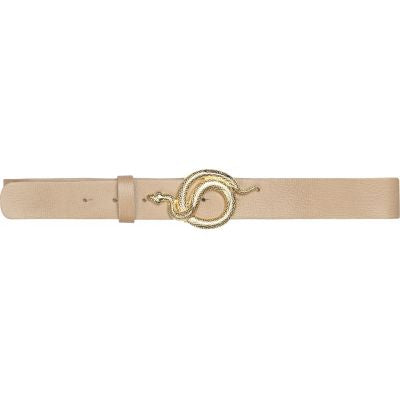 Milo Leather Belt Nude Gold