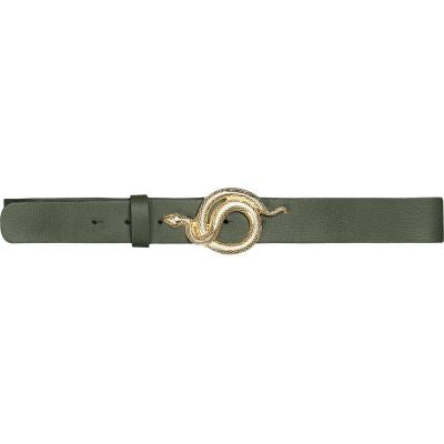 Milo Leather Belt Army Gold