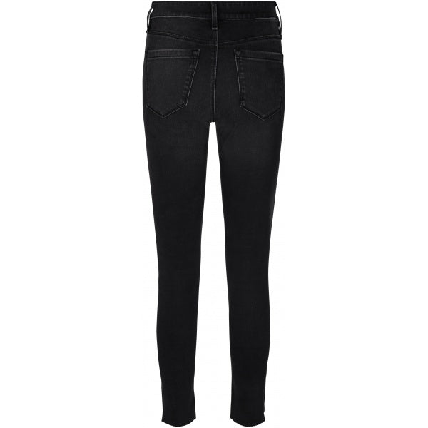 Alexa Ankle Zip Wash Japan Jeans Black