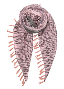 Detailed Snake Scarf Rose