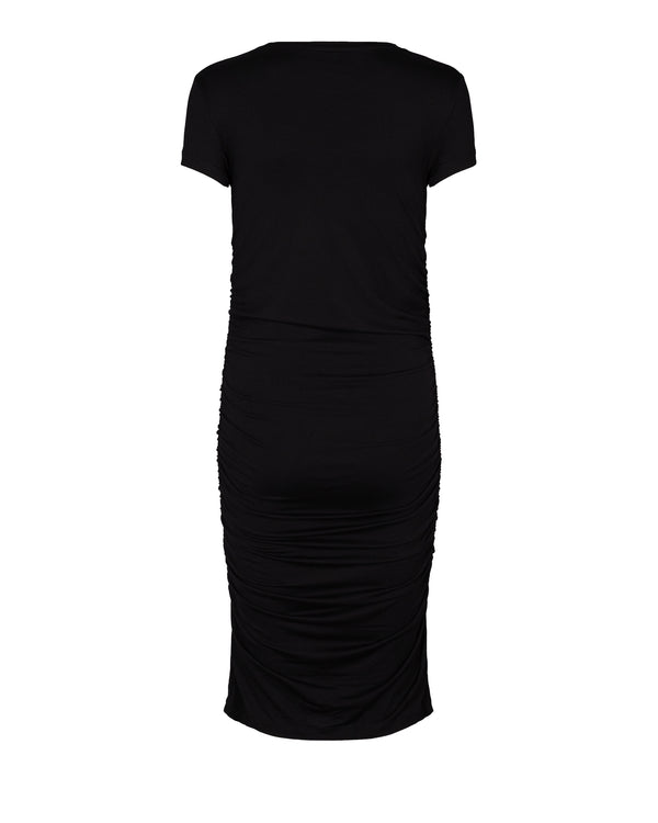 Beala Short Sleeved Short Dress Black