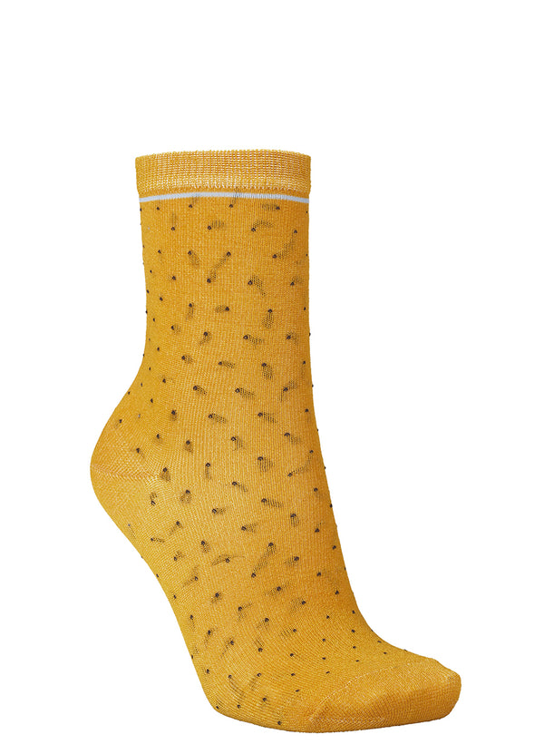 Darsi Shiny Dots Strømper Golden Yellow