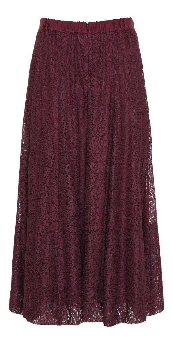 Beth Skirt Red Mahogany