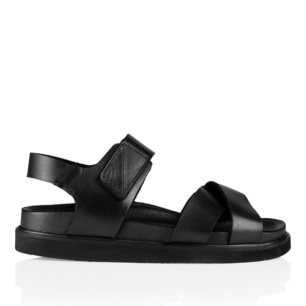 Pavement Hazel Sandal Black Leather