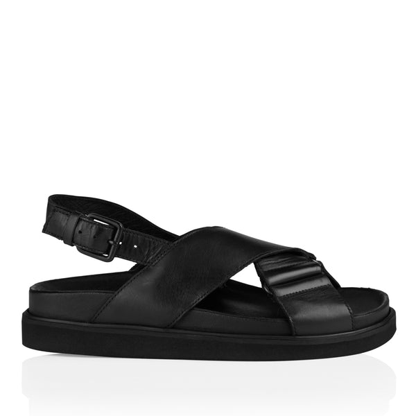 Pavement Darcie Sandal Black Leather