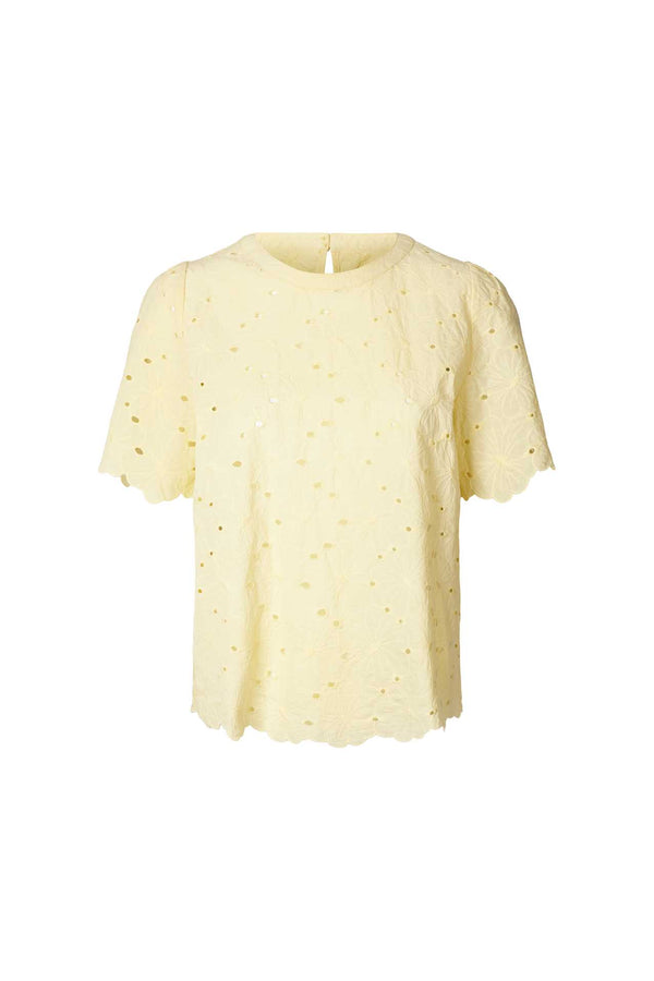 Lollys Laundry Christina Bluse Light Yellow