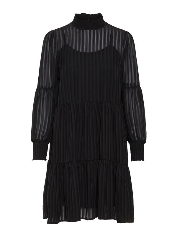 Yasmackie Long Sleeved Dress Black