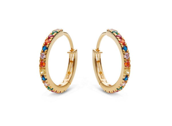 Nubia Big Color Earring Gold