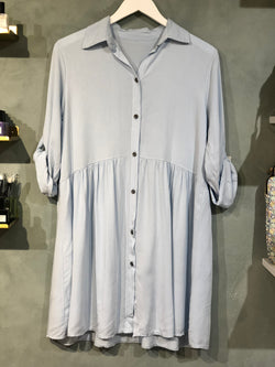 Paris Shirt Dress Blue