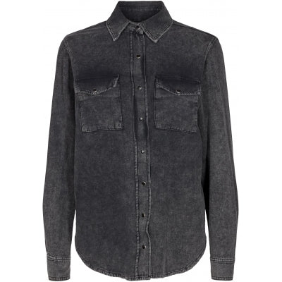 Ivy Copenhagen Shane Denim Shirt Wash Azid Black