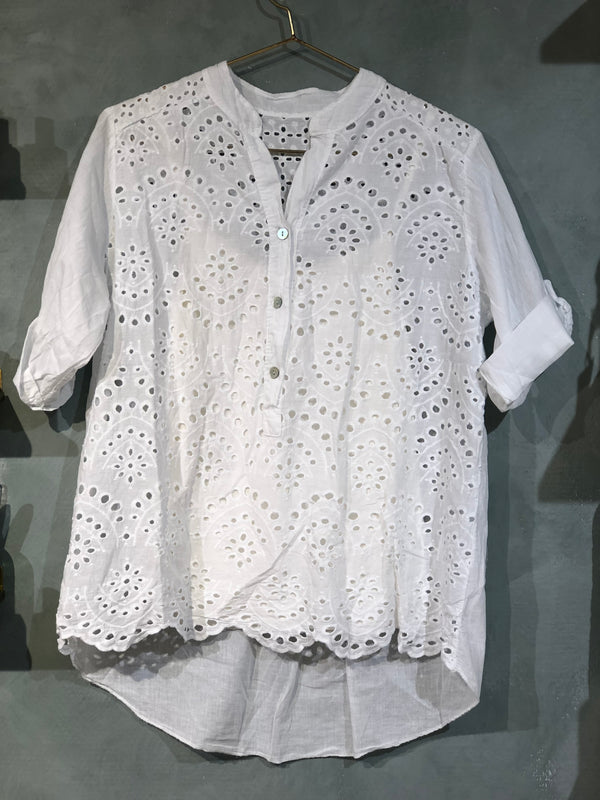 Paris Shirt Lace White