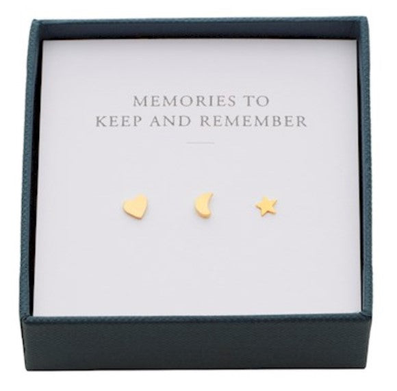 Moment Earrings Box Gold