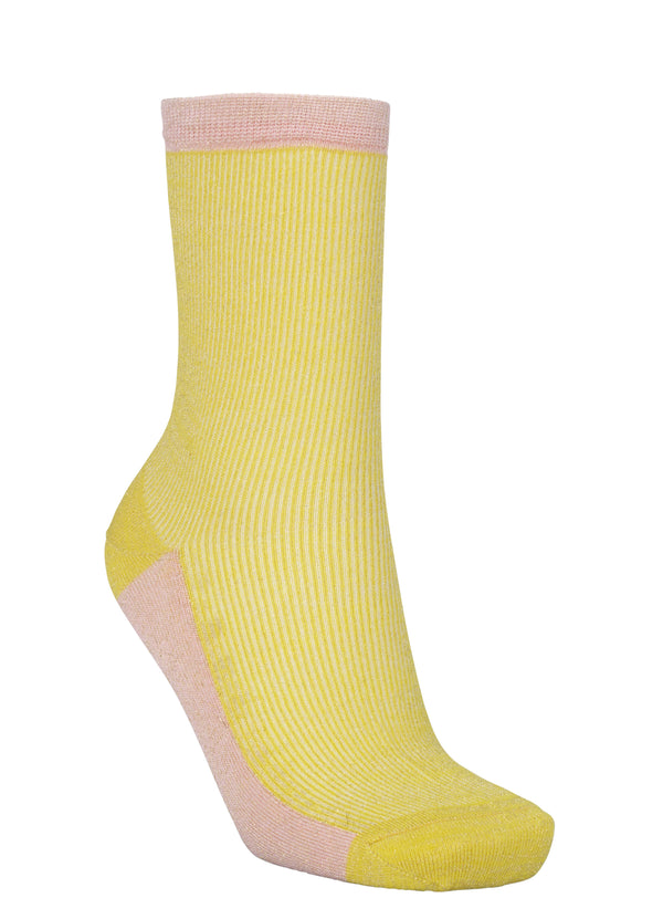Dea Glitz Sock Yellow