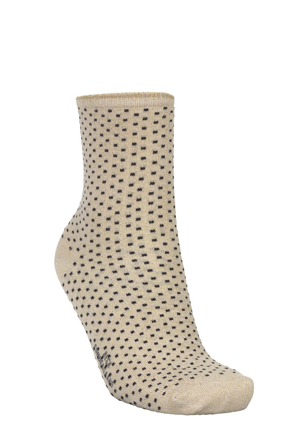 Dina Small Dots Sock Sand