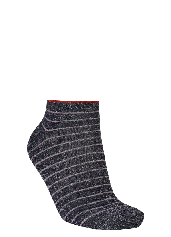 Dolly Stripe Sock Navy Blue