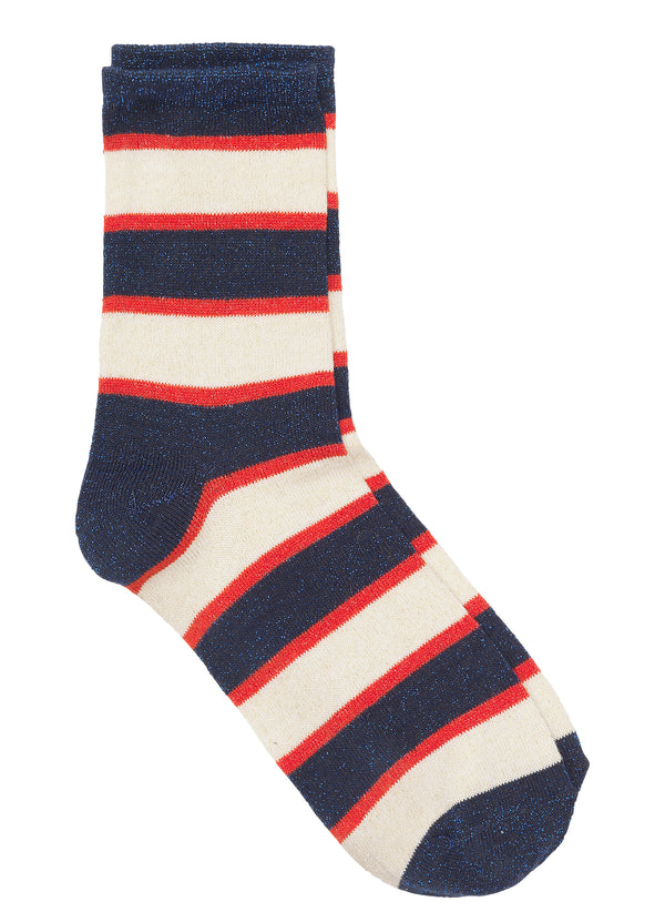 Dory Stripe Sock Red