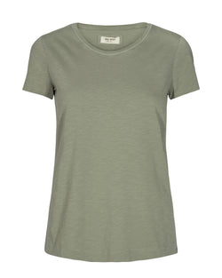 Mos Mosh Arden Organic O-Neck T-shirt Oil Green
