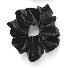 Large Velvet Scrunchie Black