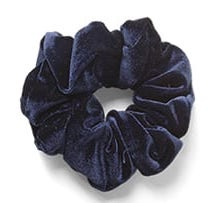 Large Velvet Scrunchie Blue
