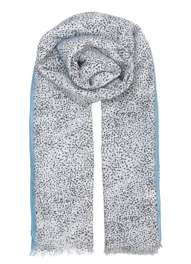 Inky Dots Scarf Dark Navy