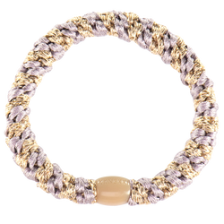 Kknekki Hair Ties Dusty Lavender Beige Glitter