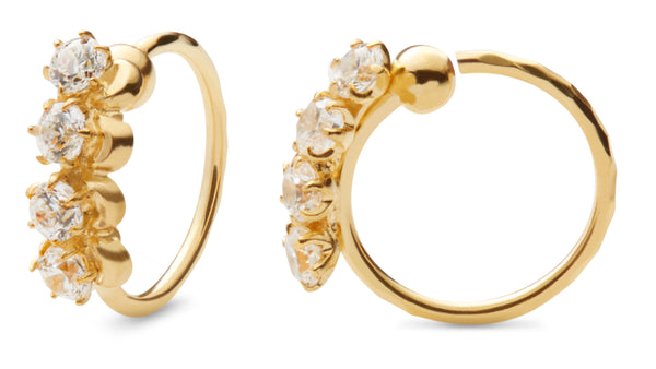 Lela Four Stones Earring Gold