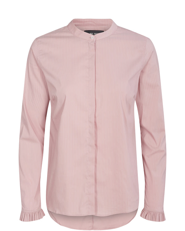 Mattie Fine Stripe Shirt Vintage Rose