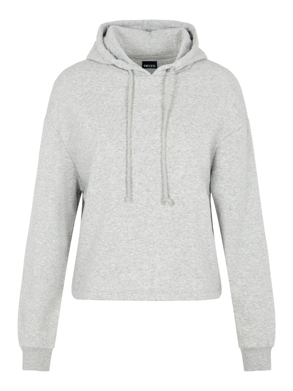 Pieces Chilli Hoodie Light Grey Melange