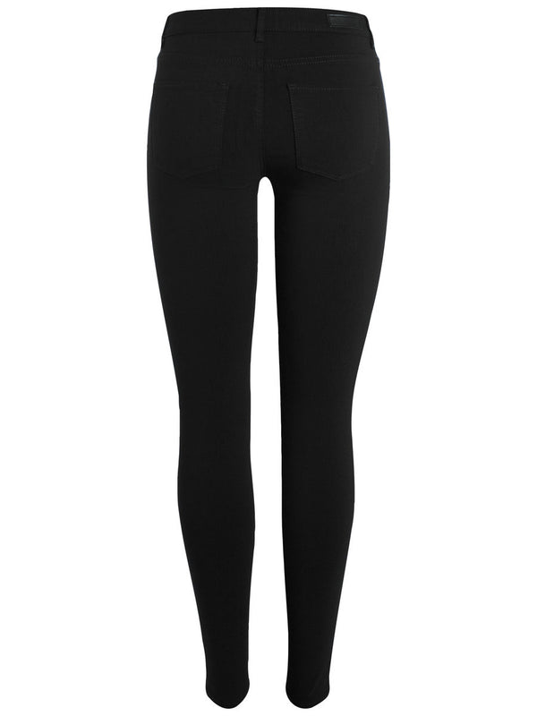 Pieces Skin Jeggings Black