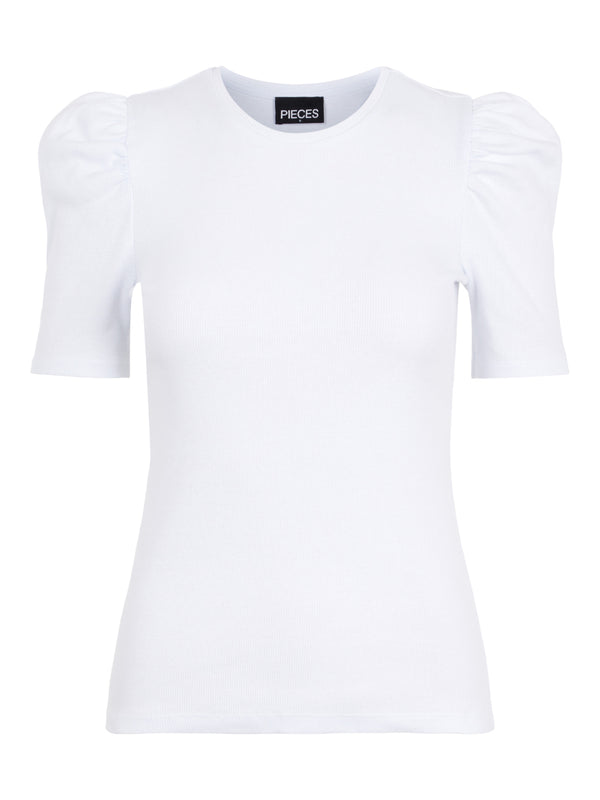Pieces Anna T-shirt Bright White