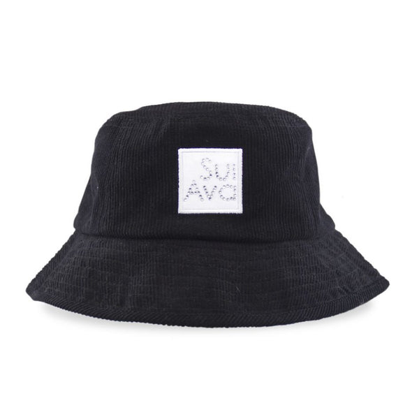 Christina Corduroy Buckethat Black
