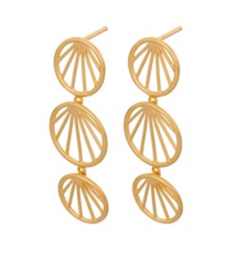 Sunray Earrings Gold