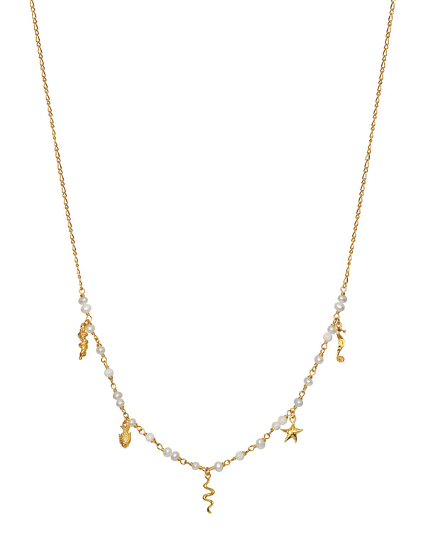 Starfish Necklace Gold