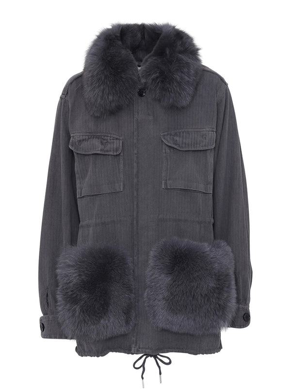 Custommade Windie Fur Jakke Anthracite Black