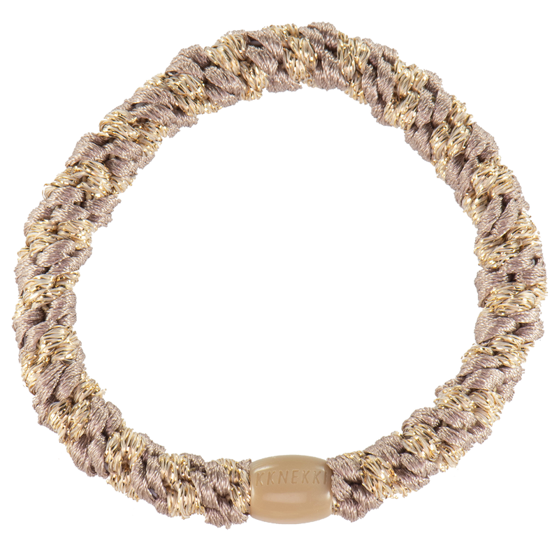 Kknekki Hair Ties Dove Beige Glitter