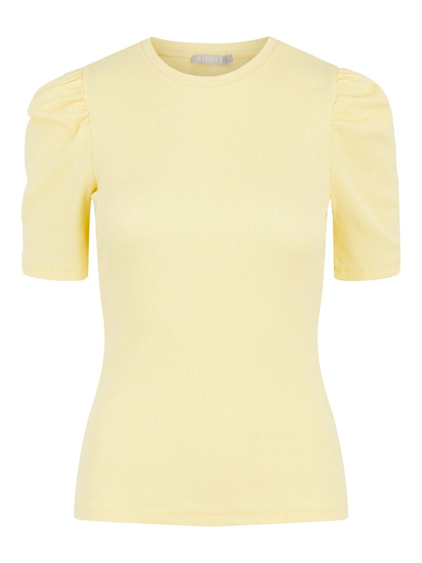 Pieces Anna T-shirt Pale Banana