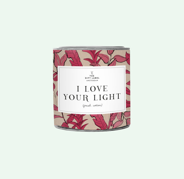 The Gift Label I Love your Light Duftlys Jasmine Vanilla
