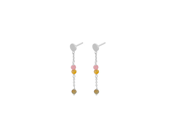 Afterglow Pastel Earchains Silver