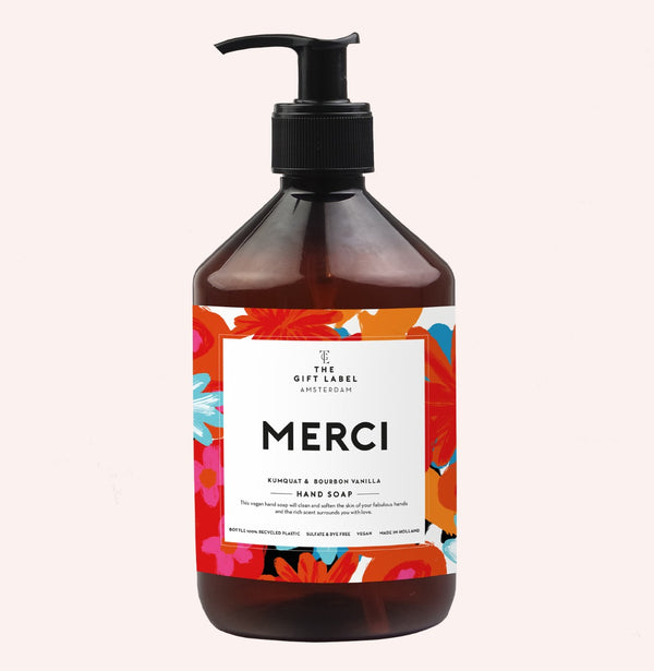 The Gift Label Merci Hand Soap Kumquat & Bourbon Vanilla