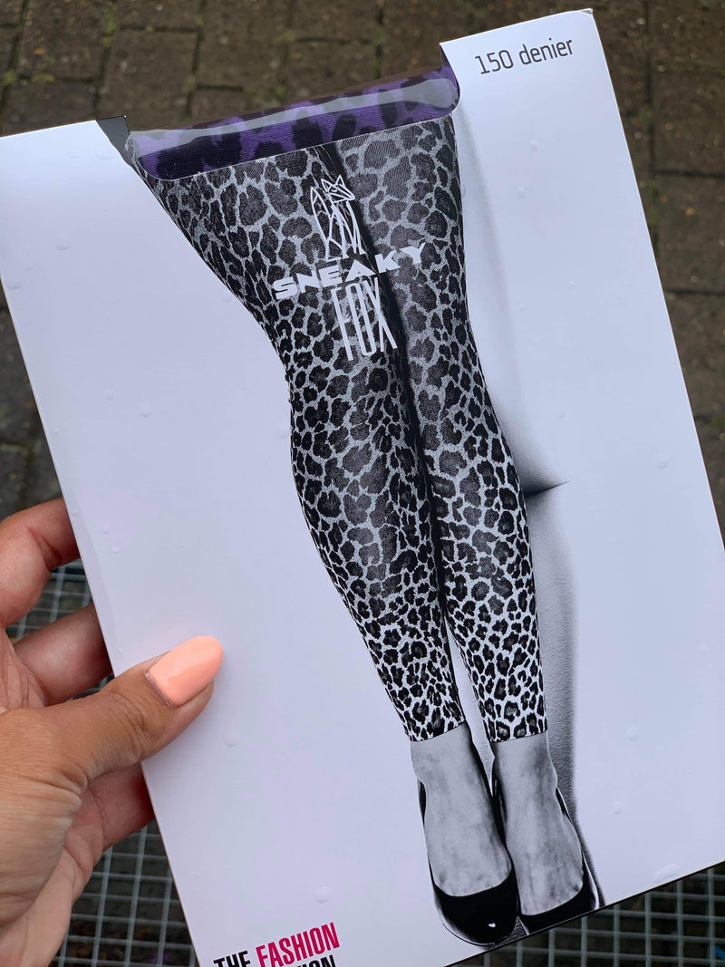 Sneaky Fox Leopard Leggings Ultra Violet