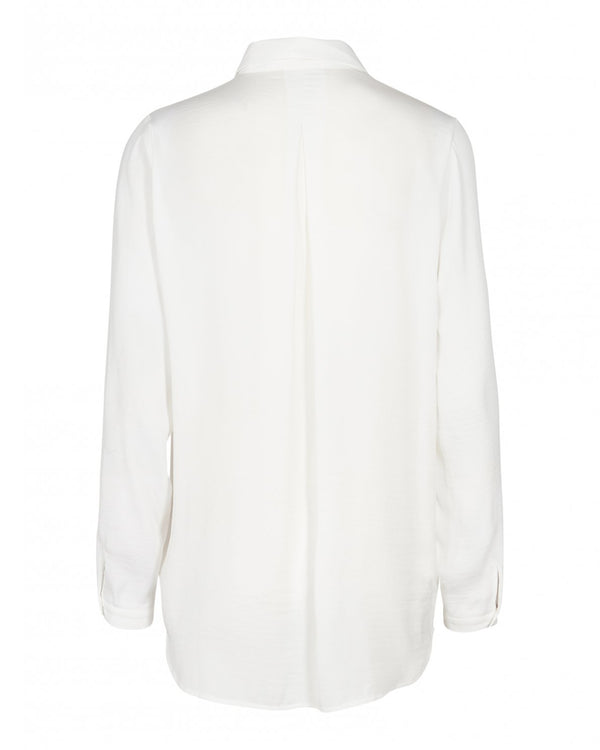 Blair Polysilk Shirt Cloud White