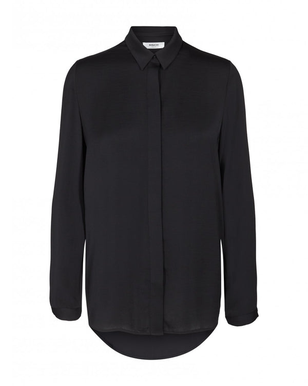Blair Polysilk Shirt Black