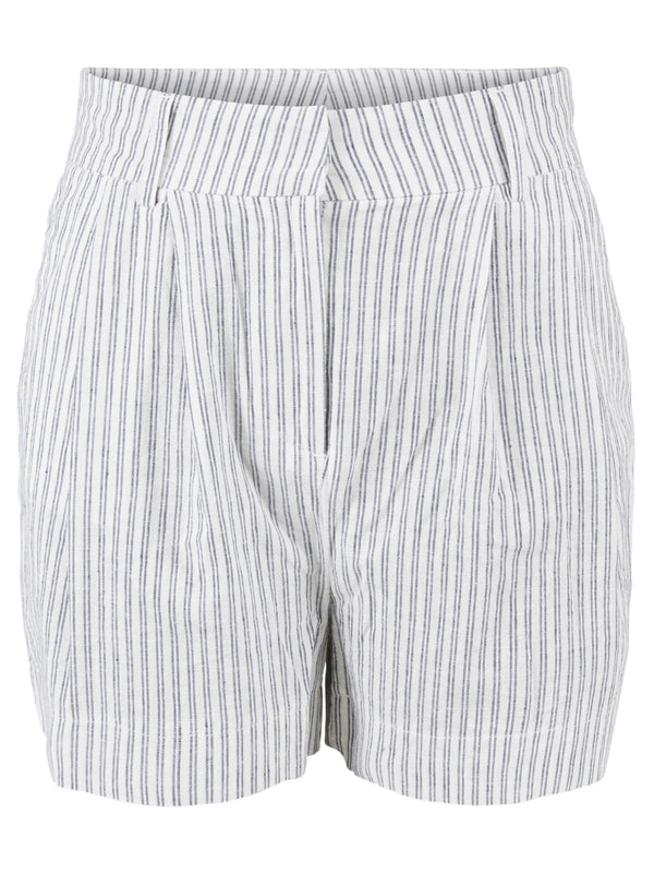 Yascomo High Waist Shorts Creme Stripes