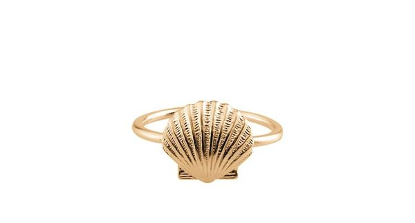 Seashell Ring Gold