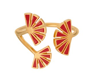 Flare Red Ring Gold